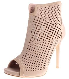 Enimay Women's 4 Inch Stiletto Heel Peep Toe Diamond Cut Fashion Dress Bootie Beige 7.5... Women's open toe high heels are perfect for casual, dress, formal, or business occasions. Dress down with jeans or dress up with a formal gown! Padded mid sole will ensure all day comfort. The perfect addition to your shoe collection!STYLE: Women's High Heel Open Toe Shoe with......http://bit.ly/2lnVLhm