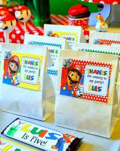 Super Mario Birthday Party – Style with Nancy Super Mario Birthday, Mario Birthday Party, Super Mario Party, I Party, 5th Birthday, Party Time, Sonic Birthday Parties, Mario Bros., Ideas Para Fiestas