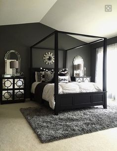 Feature Friday Haneenu0027s Haven - Southern Hospitality & black bedroom furniture with gray walls - Black Bedroom Furniture ...