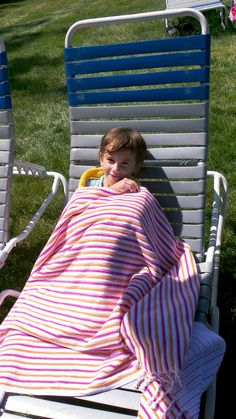 The Newport Stripe Beach Towel on Thrifty and Chic Mama!