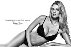 Lara Stone Looks Sexy In Calvin Klein's New Lingerie Ad
