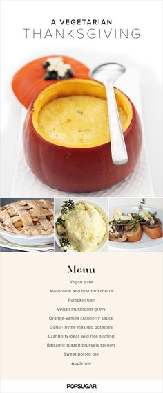 Thanksgiving doesn't have to be all about the turkey and ham! This vegetarian Thanksgiving menu is so delicious, even meat-eaters will devour their entire plate!