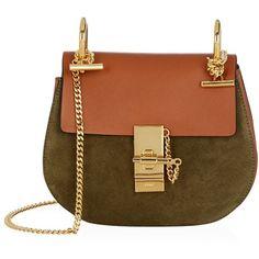 Chlo¨¦ \u0026#39;Drew\u0026#39; fringed shoulder bag found on Polyvore featuring bags ...