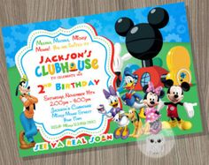 50% OFF SALE Mickey Invitation / Mickey by theincrediblecards