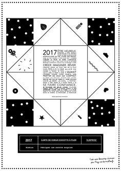 Carte de voeux cocotte à imprimer 2017