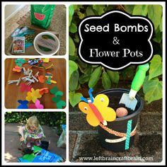 Make some seed bombs and butterfly decorated flower pots over at Left Brain Craft Brain.