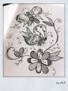 "whimsical tangle drawings....need to learn to, ""see,"" these designs when drawing:"