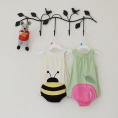 13年春夏美国在售款全棉婴儿哈衣宝宝爬服造形连身衣樱桃蜜蜂-淘宝网