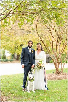 Weddings + Puppies – Real Weddings Featuring Man's Best Friend Nc Wedding Venue, Wedding Bride, Wedding Blog, Wedding Day, Wedding Dresses, Mans Best Friend, Best Friends, National Puppy Day, Big Day
