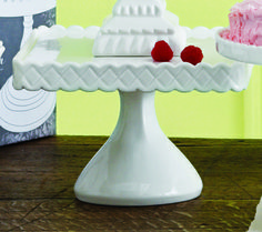 Décor Bon Bon Footed Square Cake Stand