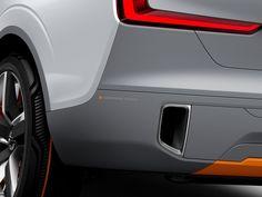 Volvo, Concept XC Coupé, Grey, Crossover, Concept Car, Pipe exhaust detail, Orange