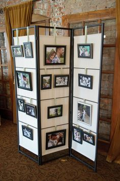 Our engagement pictures on display at our wedding reception.  Cute way to display them to our friends/family!