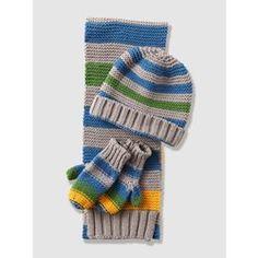 Bonnet garçon + écharpe + moufles en tricot VERTBAUDET