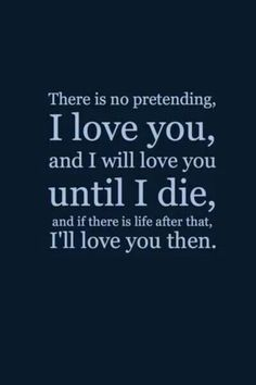 There is no pretending, I love you @Emily Schoenfeld Schoenfeld Udall