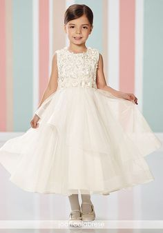 42c7cb5a007 Joan Calabrese by Mon Cheri. Designer First Communion DressesDesigner Flower  Girl ...
