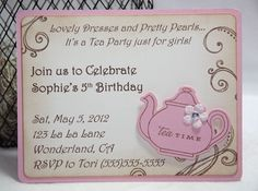 Pink Tea Party Invitations