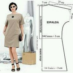 Un vestido sencillo y cómodo , especial para principiantes en la costura