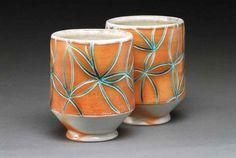 November   2007   pottery blog: emily murphy - Making pottery roller with hot glue gun designs... Gotta try!