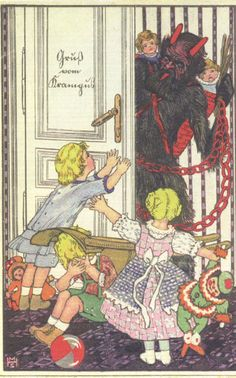 home of the holiday devil :: Krampus Gallery Halloween Items, Vintage Halloween, Anti Santa, Christmas Music Playlist, Santa's Little Helper, Vintage Christmas Cards, Antique Christmas, Very Scary, Angels And Demons