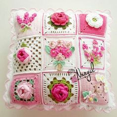 Crochet cushion cover handmade cover in cotton and natural wool – artofit – Artofit Crochet Blocks, Crochet Squares, Crochet Granny, Crochet Motif, Crochet Cushion Cover, Crochet Cushions, Crochet Pillow, Crochet Home, Crochet Crafts