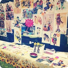 Great example for PVC artist alley table