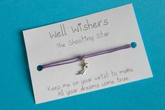 ♥ The message on the card is inspired by the charm and what it symbolises. For example The Shooting Star Make All, How To Make, Wish Come True, Shooting Stars, Travel Gifts, Friendship Bracelets, Party Favors, Dreaming Of You, My Etsy Shop