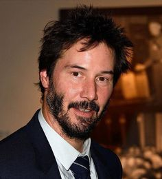 WHY DO WE LOVE KEANU? Because of pix like this one when he looks truly happy. (chicfoo) keanu