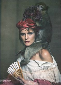 Stella Tennant photo by Paolo Roversi. W magazine, March 2002  I am not taking care of any monkeys....