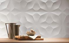TREND: 13 newest tiles with 3D effects from Cersaie 2015  | Atlas Concorde 3d Wall Design | #designbest #cersaie2015 | Read more on Designbest Magazie - Furniture Design
