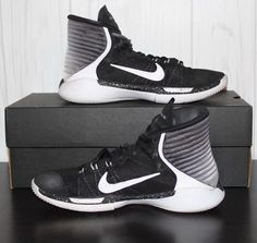 1ace74011723 Nike Prime Hype DF 2016 845096-001 Youth Basketball Black White Shoes Size  7Y