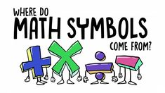 Where do math symbols come from? - John David Walters Interesting explanation of mathematical symbols Math Games, Math Activities, Math Math, Math Literacy, Math Education, Multiplication, Sixth Grade Math, English Letter, Secondary Math