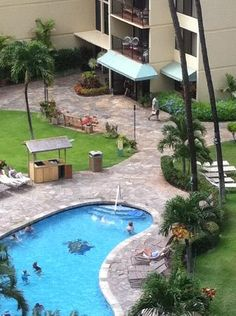 this is the garden pool at kaanapali shores-maui