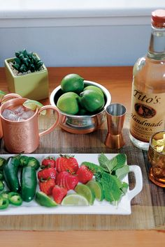 Tips & tricks from Tito's Handmade Vodka for entertaining with an American Mule-themed home bar cart