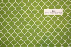 Lime Green Quatrefoil Cotton Fabric  SHIPS FAST Quatrefoil Cotton fabric for quilting sewing Fabric Store low price  free shipping available by FabricPremier on Etsy