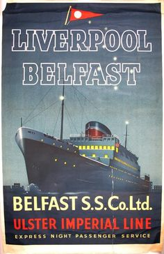 Ulster Imperial Line - Liverpool, Belfast - 1970's -
