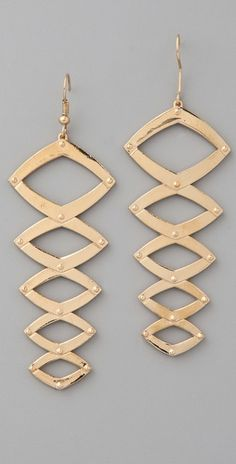 Geometric Earrings by House of Harlow 1960: On sale, $55. #Earrings #HOuse_of_Harlow