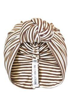 Vintage Gold Stripe Knot Turban