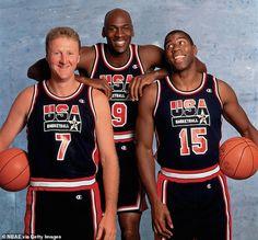 Team Usa Basketball, Basketball History, Basketball Legends, Houston Basketball, Basketball Hoop, Football, Larry Bird, Michael Jordan Team, Jordan 23
