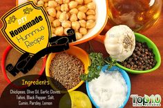 DIY hummus ingredients