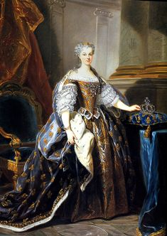 Jean Baptiste Van Loo (1684-1745), Maire Leczinska Queen of France, about 1725 Castle of Versailles and Trianon museum.