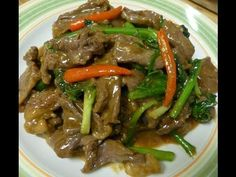 Thai food-Stir fried beef with oyster sauce - YouTube