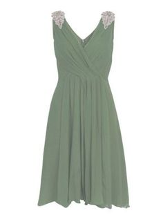 Almost Famous Chiffon pleated dress Pink - House of Fraser