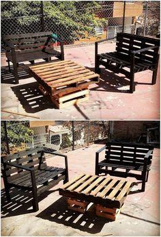 A much appealing outdoor furniture design of the wood pallet is all made to be the part of this image. It is not always important to add your house with the giant looking furniture form of designs. Sometimes medium or miniature furniture option can turn out to be classy. See the image we shared below!