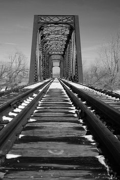 I Love Railroad tracks and old Bridges.  Taken in Great Falls Montana