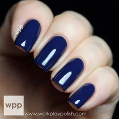 China Glaze All Aboard Collection - One Track Mind,a beautiful bright navy blue. I love navy cremes <3 Practically a one coater.