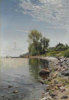 Peder Mørk Mønsted (1859-1941): Coastal View, 1900