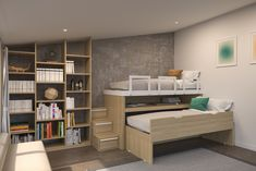 Kids Bedroom Furniture, Diy Furniture, Kids Bedroom Designs, Bedroom Ideas, Retro Home, New Room, Bunk Beds, Small Spaces, Interior Design