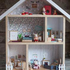 Maison de poupée DIY récup