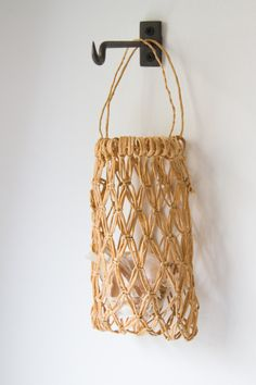 make your own: structured macrame basket. make your own: structured macrame basket.,CRAFTS make your own: structured macrame basket. – Reading My Tea Leaves – Slow, simple, sustainable living. Reading My Tea Leaves, Crafts To Make, Diy Crafts, Small Glass Bottles, Make Your Own, Make It Yourself, Basket Crafts, Creative Textiles, Macrame Bag