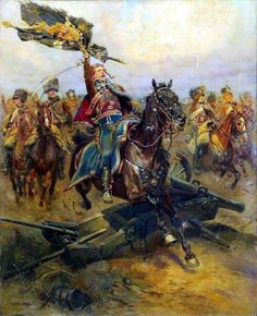French hussars capture a Prussian standard -1806 Jean Baptiste Édouard Detaille. Any hussar who lives beyond 30 is a blackguard !
